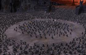 A las puertas de Mordor, unos pocos hombres son rodeados por un ejército muy superior. La valentía y el desprecio de esta vida, para realizar su sentido, son enormes y generalizadas. Sólo con estas disposiciones de parte de sus defensores, la Iglesia saldrá del abismo presente
