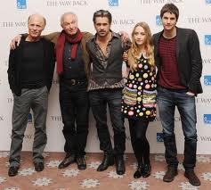 El director Peter Weir con su reparto: Ed Harris, Jim Sturges, Saroise Ronan, Colin Farrell: ¡¡¡soberbio!!!