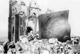 Catedral de Urakami, la más grande de Asia, destruida por la bomba atómica