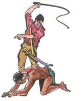 Fíjense bien, es él mismo, flagelándose a sí mismo: la única verdadera esclavitud