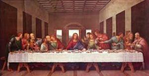 Leonardo: Última Cena. Obra completa, encarnación de la belleza. El Tema: en una Ocasión usual para los judíos, se manifiesta el más espectacular Amor