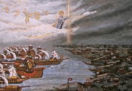 Lepanto: las fuerzas cristianas se enfrentaban a lo que parecía un ejército superior. El Papa rezó y rezó y Dios nos libró de los gentiles... y la Cristiandad se salvó de la tremenda amenaza: 7 de octubre de 1571