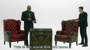 """Para muchos, es la ventana al mundo, como dice en la escena Morfeo. En ella, también dice que és es la Matrix, que es: """"CONTROL"""", totalitarismo mediante el borreguismo radical"""