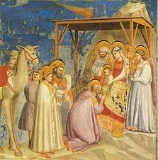 La adoración de los magos, de Giotto. éste fue un verdadero grande, un sublime y un pionero, entre otras cosas, descubrió cómo la geometría se aplicaba al arte, para precisar la perspectiva