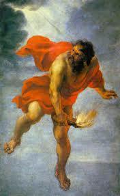 Pues quiso robar el fuego de los dioses, quedó como proverbio de usurpador de la divinidad