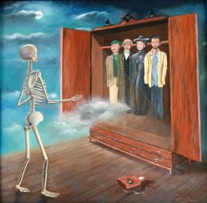 Reencarnación, creencia absurda (aunque no tanto como la imagen), sólo admisible para dualismos radicales