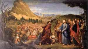 Multiplicó los panes como signo de la sobreabundancia de los bienes mesiánicos y, de manera más sublime, como signo de la Eucaristía: se nos da Él ¿nos va a dejar que nos falte algo que necesitemos de verdad?
