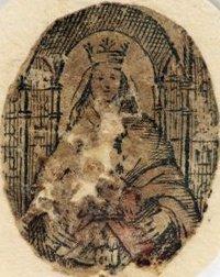 """ÉSte es el ícono original de nuestra Madre de Coromoto, de 27 por 22 milímetros. Esta aparición, junto con la de Guadalupe son las dos apariciones """"americanas"""" reconocidas canónicamente por la Iglesia Universal"""