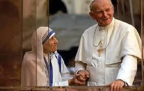 La Madre Teresa y juan Pablo II, par de modelos eminentes de virtud en nuestros días