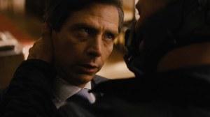 Dagget y Bane, después de hacerse con las acciones de Bruce Wayne, a la manera capitalista. De hecho, en la película, este es el símbolo vivo del capitalismo