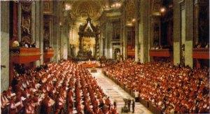 Concilio Vaticano II: la gran asamblea de la Cristiandad del siglo XX, se vio afectada por ataque de afuera y por traidores de dentro: los modernistas. Allí, triunfó el Espíritu, lo volverá a hacer, porque Dios no pierde y el infierno nunca prevalecerá contra Ella, a pesar de las tormentas