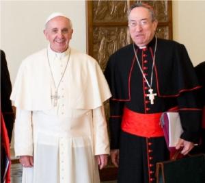 Cardenal Oscar Andrés Rodriguez-Maradiaga, arzobispo de Tegucigalpa, jefe del consejo de los 8 cardenales para gobernar la Iglesia universal, mano derecha de Francisco, Papa, presidente de Caritas Internationalis, uno de los mayores promotores de la homosexualidad en el mundo de hoy, revolucionario bravo