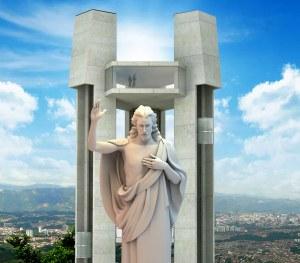 """El Santísimo, en el """"ecoparque"""", en el cerro del mismo nombre. Pero, según un tribunal administrativo de Santander, eso es un abuso contra... no se sabe ni se puede entender quién..."""