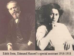 Husserl, padre de la fenomenología, con Edith Stein (luego: Santa Teresa Benedicta de la Cruz). Husserl le abrió una brecha de infinito a Stein, esa brecha se hizo horizonte con Santa Teresa de Jesús