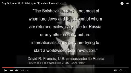 Infinidad de personalidades y publicaciones judías de la época hablan del hecho cierto de l carácter judío de la revolución en Rusia, 1917