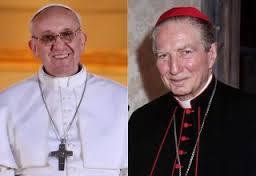 Franc y Carlo Maria Martini, arzobispo de Milán, gran miembro de la Mafia de san Gallo, dupla perfecta para destruir a la Iglesia de su odiado Jesucristo