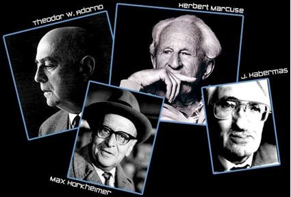 Adorno, Horkheimer, Marcuse, Habermas: el dream team de la revolución marxista cultural. Famta Gramsci, el que podría ser el capitán del equipo, ¿o no?