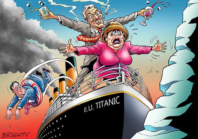Si no estás dispuesto a hundirte con Europa, eres un estúpido, irresponsable, medieval....