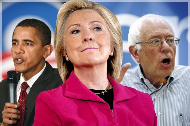 """El trío de la alegría """"liberal""""; aunque falta Bill, gatillo alegre. Foto credit: New Hampshire June 15, 2015.  REUTERS/Brian Snyder - RTX1GLP8"""