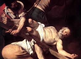 Crucifixión de San Pedro, el modelo de los papas, la medida inmutable del buen Vicario