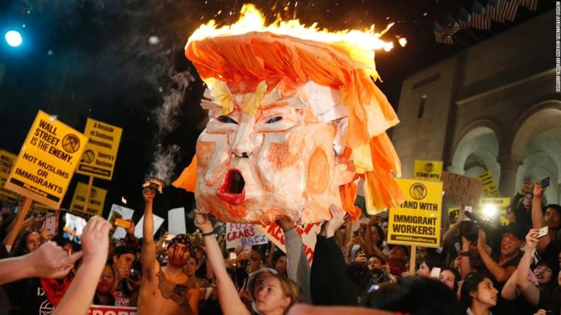 Las protestas anti-Trump y Trump: con este coctel, el mundo puede estar por arder, pero no como ustedes creen